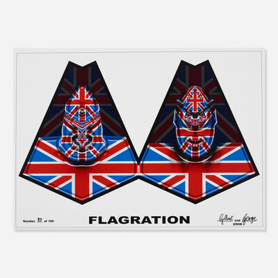 Gilbert and George, 'Flagration', 2008