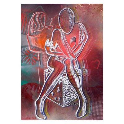 Mark Kostabi, 'Embracing Scarlet Passion', 1990-2020