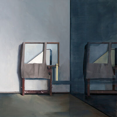 Jenny Brillhart, 'Easel Holding the Still Life; 11:07am and 5:15pm (Late Winter)', 2019