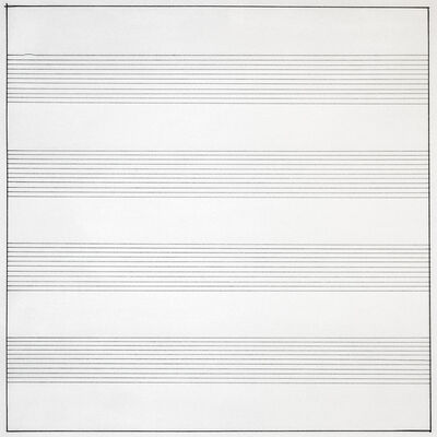 Agnes Martin, 'Untitled #10', 1990