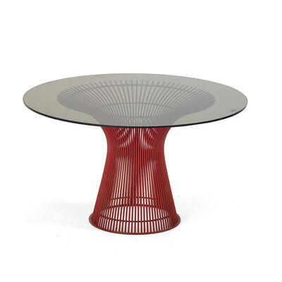 Warren Platner, 'Dining table, rare red enamel', 1970s