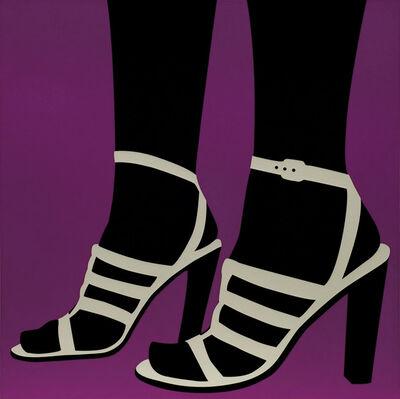 Sarah Morris, 'High Heels (purple)', 1996