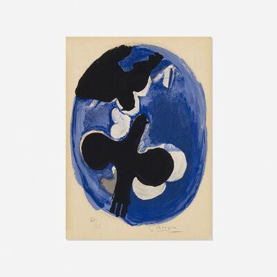 Georges Braque, 'Deux Oiseaux sur Fond Bleu', 1955