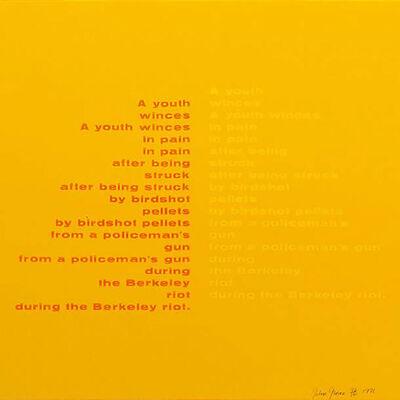 John Giorno, 'Poem from the On the Bowery Portfolio', 1969