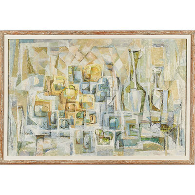 Frederic Weinberg, 'Untitled painting (Still Life with Fruit and Bottles), Philadelphia, PA'