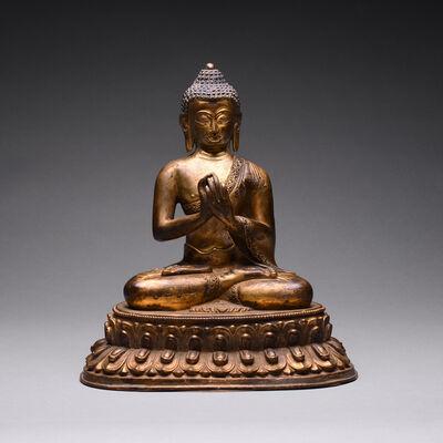 Unknown Tibetan, 'Tibetan Gilt-Bronze Figure of Seated Buddha Shakyamuni', 16th century A.D. to 18th century A.D.