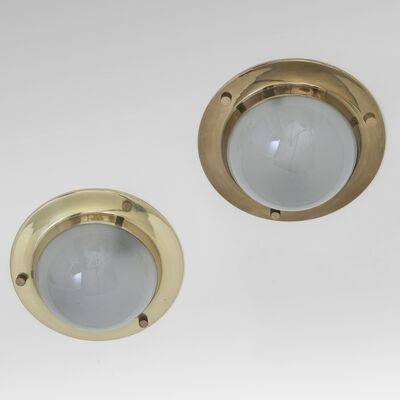 Luigi Caccia Dominioni, 'A pair of ceiling lamps  'LSP6' model ('Tommy')', 1965