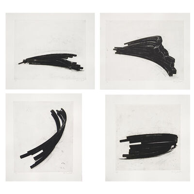 Bernar Venet, 'Effondrements: Arcs (Portfolio of 4)', 2013
