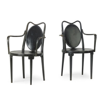 Josef Hoffmann, 'Pair of armchairs, Austria', early 1900s
