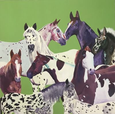 Myasia Dowdell, 'Group of Horses', 2018