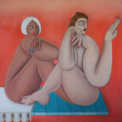 Georgia Dymock, 'Two Joined Figures', 2020