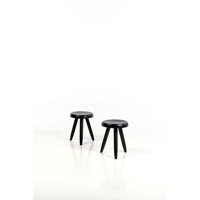 Charlotte Perriand, 'Pair of stools', 1950s