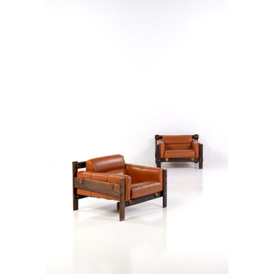 Percival Lafer, 'Pair of lounge armchairs', circa 1960