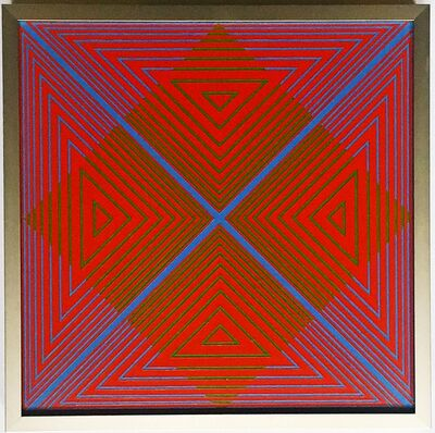Richard Anuszkiewicz, 'to Jon (Untitled 1960s Op Art Painting dedicated to the film composer Jon Appleton, with Letter of Provenance)', 1968