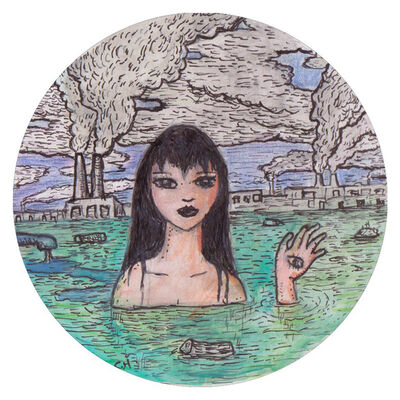 Conrad Haberland, 'Green River Factory Girl', 2018
