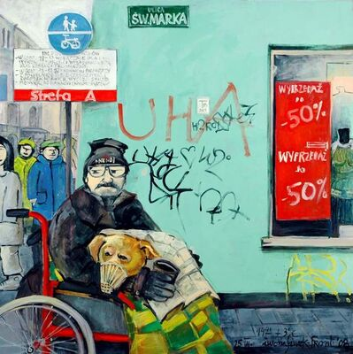 Iwona Siwek-Front, 'Pauper with a dog (Cracow)', 2008