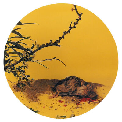 """Hong Lei, 'After Song Dynasty Painting """"Autumn Chrysanthemum and Quail""""', 1998"""