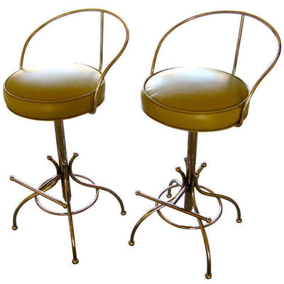 "Charles Hollis Jones, '""Ball Line"" Swivel Bar Stools', ca. 1965"