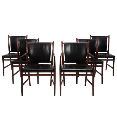 Jacob Kjær, 'Set of four chairs and two armchairs', 1960's