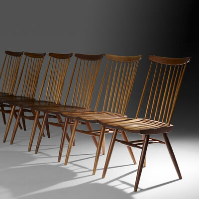 George Nakashima, 'New chairs, set of six', 1954-57