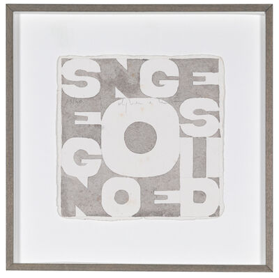 Alighiero Boetti, 'Segno e disegno', 1979