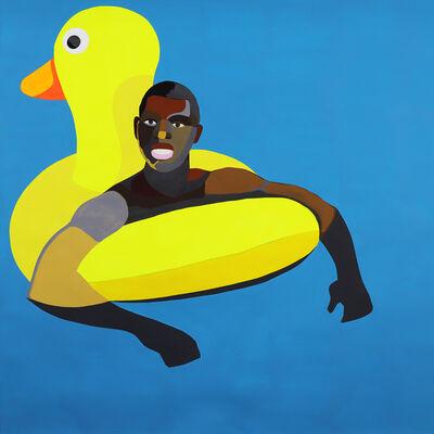 Derrick Adams, 'Floater 62 (Yellow Duck)', 2017