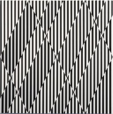 Roland Helmer, 'Zwei Rauten, schwarz, weiß', 2020