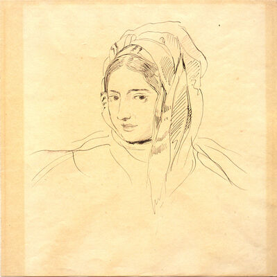 Eugène Delacroix, 'Head of a Woman', 1810-1863