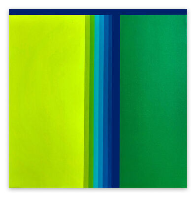 Cristina Ghetti, 'Green gradient (Abstract painting)', 2020