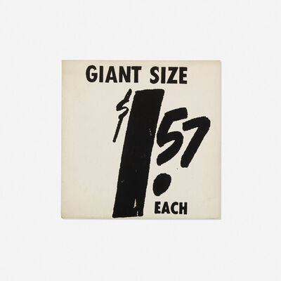 Andy Warhol, '$ 1.57 Giant Size', 1963