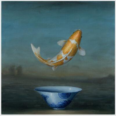 David Kroll, 'Landscape (Koi and Blue Bowl)', 2019