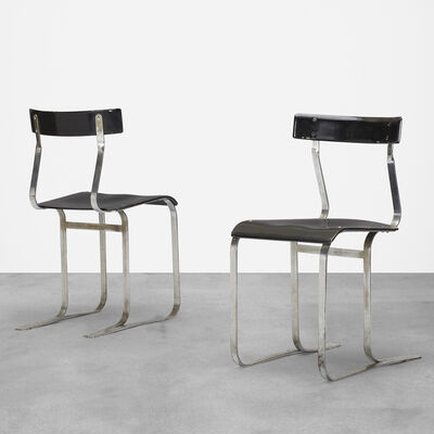 Marcel Breuer, 'chairs model WB301, pair', c. 1933