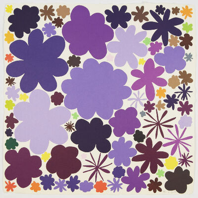 Polly Apfelbaum, 'Color Field Notes (Purple)', 2009