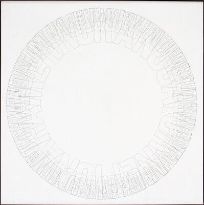 Ferdinand Kriwet, 'Ohne Titel (Bleistift-Text B6)', 1976