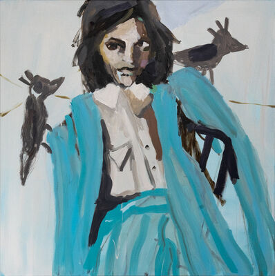 Mie Olise Kjærgaard, 'Two Bird Turquoise Suit Woman', 2021