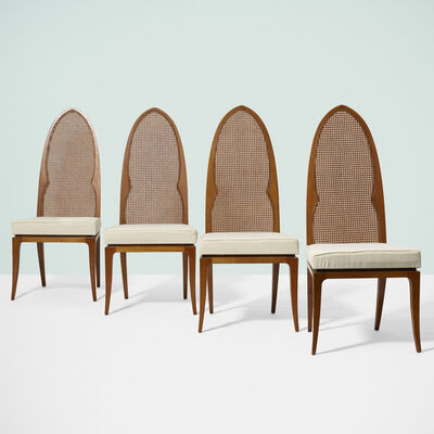 Harvey Probber, 'Arch Back chairs, set of four', c. 1955