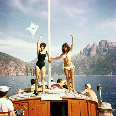 Raymond Cauchetier, 'Jean-Claude Aimini, Stefania Sabatini and Yveline Céry in Jacques Rozier's film : Adieu Philippine #3, Calvi Corsica, ', 1960