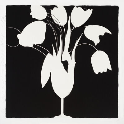 Donald Sultan, 'White Tulips and Vase, Feb 25, 2014', 2014