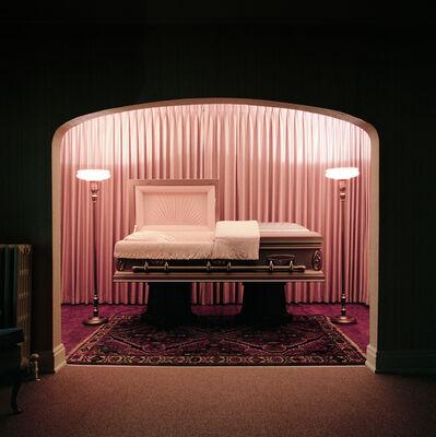 Lucinda Devlin, 'Casket Showroom, Carter Funeral Home, Syracuse, NY', 1986