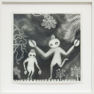 Andrea Dezsö, 'Night Drawings: Two Lobstermen', 2013