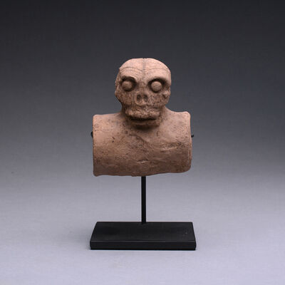 Unknown Pre-Columbian, 'Mayan Terracotta Skull', 200 AD to 600 AD