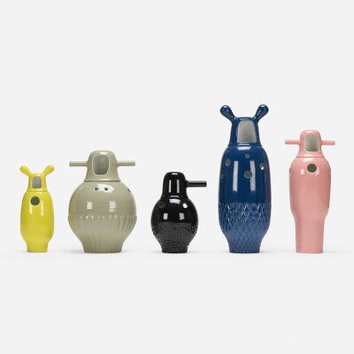 Jaime Hayon, 'Showtime vases, collection of five', c. 2006