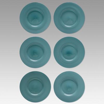 Paolo Venini, 'Opalino plates, set of six', c. 1950