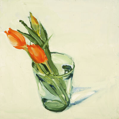 Susan Headley Van Campen, 'Susan Headley Van Campen Tulips in a Glass', 2018