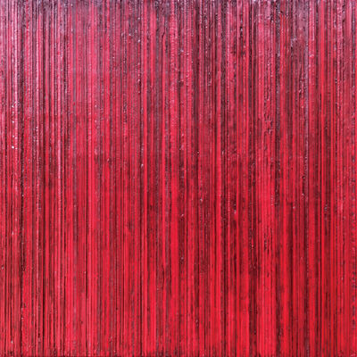 Michele Renée Ledoux, 'stripes on wood, red no. 4 29/29, the bungalow collection', 2019