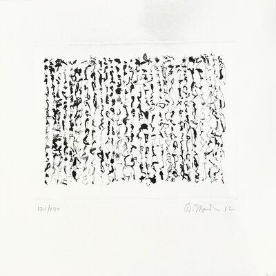 Brice Marden, 'Letter (O)', 2012