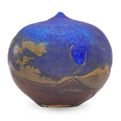 Toshiko Takaezu, 'Small cobalt form with rattle, USA'