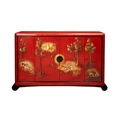 Jean Dunand, 'Chinese red lacquer cabinet ', 1937