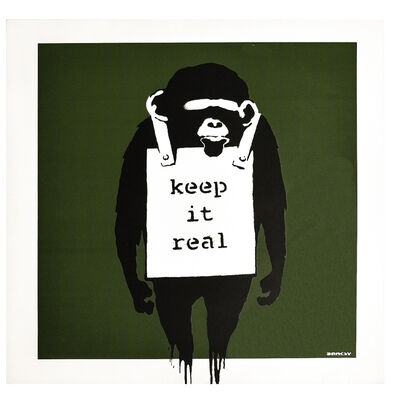 Banksy, 'KEEP IT REAL / LAUGH NOW', 2008