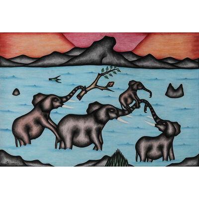 Kivuthi Mbuno, 'Ndovu na mtoto (L'éléphant et l'éléphanteau)'
